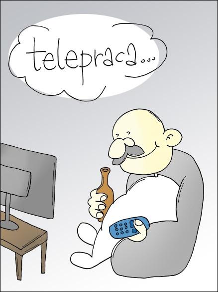 Telepraca - wady i zalety